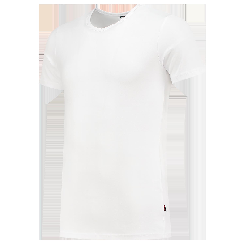 T-Shirt Elastaan Slim Fit V Hals