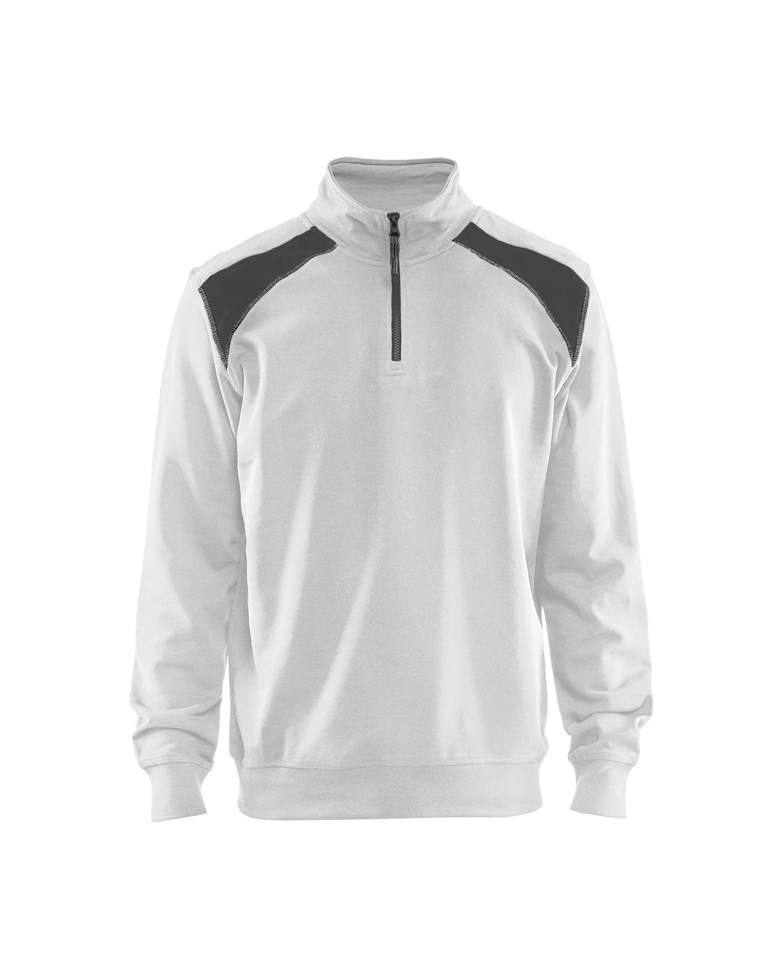 Sweatshirt Bi-Colour met halve rits