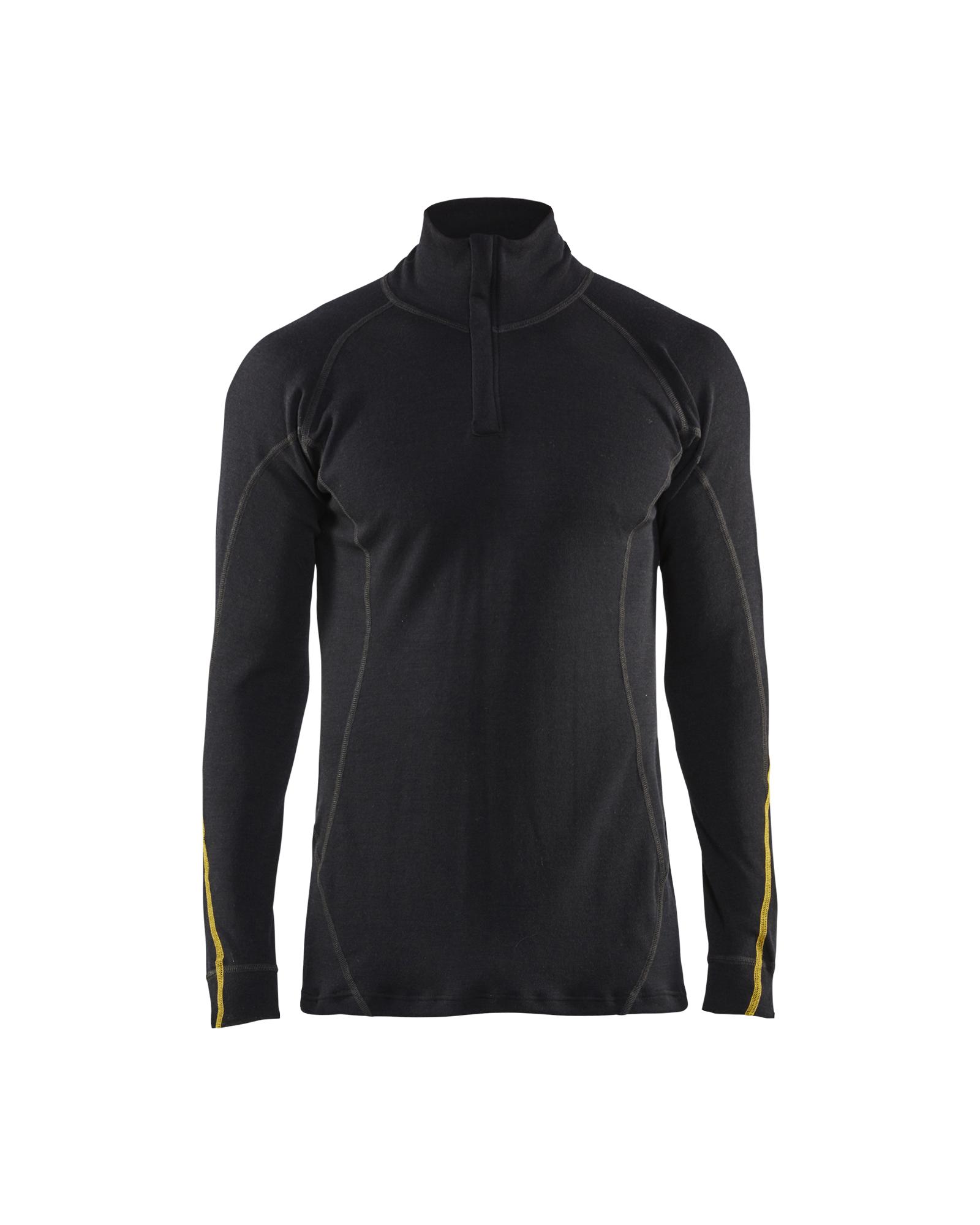 FR Onderhemd Zip-neck 78% Merino